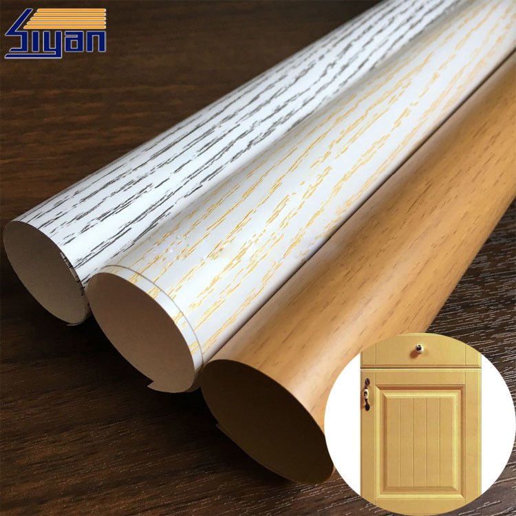 Wood Grain PVC Membrane Film Rough / Smooth Texture , 0.12mm-0.6mm Thickness