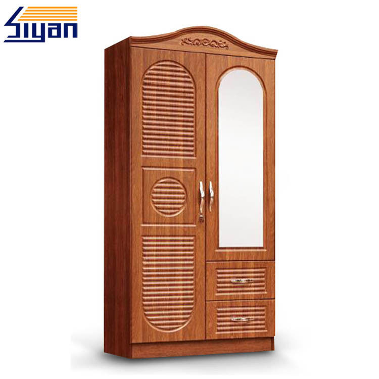 Custom Interior Wooden Louvered Doors Mirrored Front With MDF Board Materials