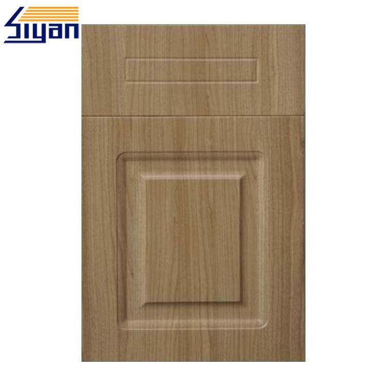 20mm MDF Cabinet Vinyl Wrapped Kitchen Cupboard Doors PVC Foil Surface